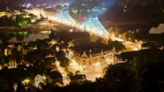Night Citry Traffic Zoom Stock Footage