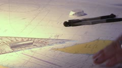 Nautical chart cartographer Stock Footage