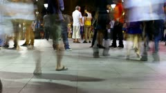 HD night time lapse of people walking  Stock Footage