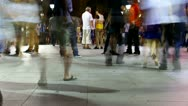 Stock Video Footage of HD night time lapse of people walking