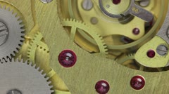 Vintage Watch Movement Stock Footage