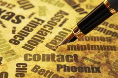 contact concept - stock photo