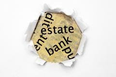 Estate bank concept Stock Photos