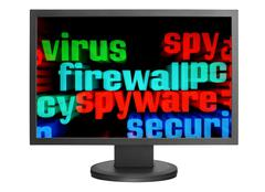 virus and firewall concept - stock photo