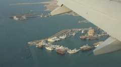 Aerial View of Qatar in the Middle East Stock Footage