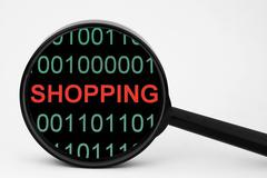 web shopping - stock photo