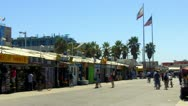 Venice Beach Boardwalk Shops With Tourists Time Lapse Stock Footage