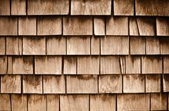 Shingle aged wooden  background Stock Photos