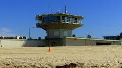 Venice Beach Lifeguard Station Headquarters Stock Footage