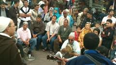 Public morocco preformance Stock Footage