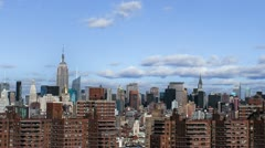 NYC Timelapse with Projects Stock Footage