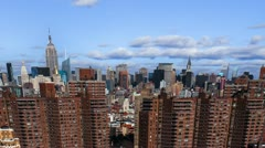 Stock Video Footage of New York City Housing Projects Timelapse