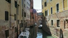 Venice view canal Stock Footage