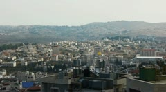 Panoramic view to Bethlehem, Palestine Stock Footage