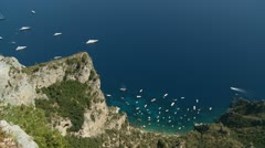 Island of Capri, Italy (8) zoom Stock Footage