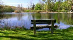 Bench with view Stock Footage