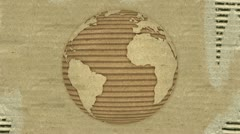 Stock Video Footage of Corrugated Cardboard Earth