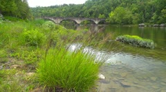 Cumberland and Highway 90 Stone Bridge 1 HD Stock Footage