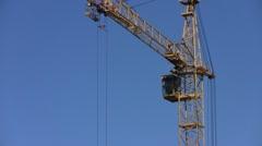 Crane turns Stock Footage