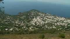 Island of Capri, aerial moving shot (6) Stock Footage