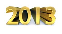 gold year 2013 - stock illustration
