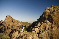 Stock Photo of nature tourist