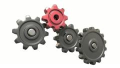 Broken gears system Stock Footage