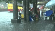 Stock Video Footage of Extreme Urban Flooding In Downtown Manila Philippines