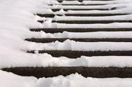 Stock Photo of Stairs covered with snow