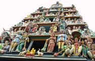 Stock Photo of Sculptures of Sri Mariamman Temple