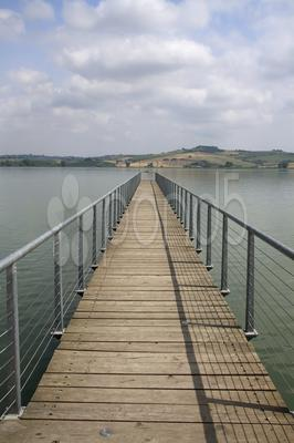 Stock photo of Pier on a lake