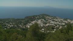 Island of Capri, aerial moving shot (4) Stock Footage