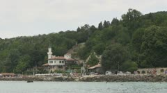Beautiful castle in Balchik Stock Footage