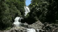 Maui East Highway Waterfall Stock Footage