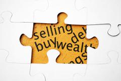 buy selling wealth - stock photo