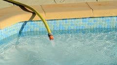 Filling a pool Stock Footage