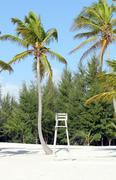 lifeguard chair - stock photo