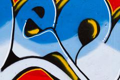 abstract smart graffiti pic with blue and white - stock illustration