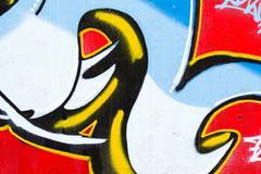 A smart graffiti tag on a brick wall Stock Illustration