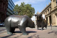 Bulls and bears Stock Photos