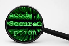 secure code - stock photo