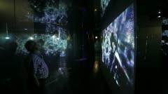 Man technology screen communication - stock footage