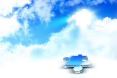 sky puzzle - stock illustration