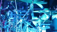 Stock Video Footage of drummer at a concert 2