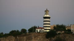 Historical Sile Lighthouse in Istanbul Stock Footage