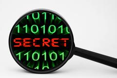 web secret - stock photo