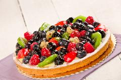 pie with fruits - stock photo