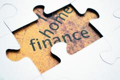 Finance puzzle Stock Photos