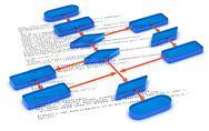 Stock Illustration of Program Code Flow