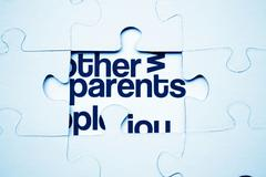 parents puzzle - stock photo